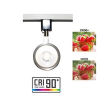 einstellbare leuchte großhandel-LED-Schienen-Licht-Kopf-Schienen-Beleuchtungs-Befestiger integrierte CRI90 mit 3000K warmem weißem 110V 12W justierbarer Winkel mit Art-Schienen-System H