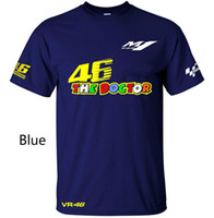 Wholesale vr shirt - Free Shipping Valentino Rossi VR 46 Logo for Moto GP The Doctor Men's Quick-drying T-Shirt Racing Jersey Tops