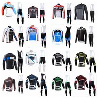 Wholesale orbea long sleeve cycling jerseys - CUBE ORBEA team Cycling long Sleeves jersey bib pants sets Wholesale price men's Quick Drying bike clothing with bib pants sets Q42905