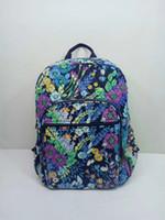 Wholesale old schools - Old pattern VB Cotton backpack schoolbag children school bag