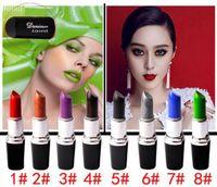 Wholesale vampire makeup resale online - Vampire lipstick new upgrade color lipstick Matte pearl lipstick Lip glaze Long lasting Liquid Lipsticks Lipgloss Makeup