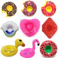 Wholesale animal swimming inflatable float for sale - Float Drink Cup air Holder Pool Party Beverage float Toys Inflatable Unicorn Swim Ring Inflatable cup holder