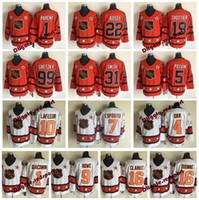 jersey tony esposito al por mayor-1980 All Star Lafleur Gordie Howe DIONNE Clarke Giacomin Tony Esposito Orr Wayne Gretzky Trottier Smith Bossy Padre Potvin Hockey Jersey