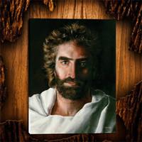 cópias da arte jesus venda por atacado-O céu é para REAL Jesus, 1 Pcs Cópias Da Lona Arte Da Parede Pintura A Óleo Decoração de Casa / (Sem Moldura / Emoldurado)