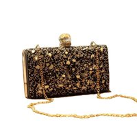 ingrosso borsa da sera nera in rilievo-Nice- Nice Women Diamonds Evening Bags Beaded Day Clutch Gold Silver Black Evening Clutch Borse Borse fatte a mano Portafoglio Portafoglio ZD635