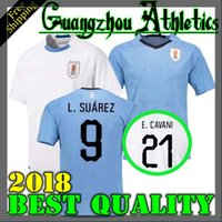 Wholesale Uruguay Soccer - Best quality URUGUAY home away 2018 2019 SUAREZ Soccer Jerseys D.GODIN E.CAVANI URUGUAY home 18 19 football shirt J.M.Giménez De Arrascaeta