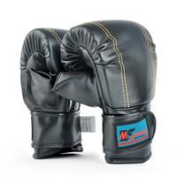 luva ufc venda por atacado-Adulto Luvas De Boxe Crânios PU Combate Livre Combate Esportes Wearable Respirável Para Muay Thai Formação MMA UFC Karate Taekwondo Vermelho Preto