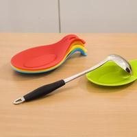 espátula de utensilios de cocina al por mayor-1pc Cuchara de silicona resistente Utensilio de cocina Espátula Portaherramientas de cocina