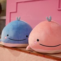 Wholesale stuffed plush fish resale online - Best Selling For Cute Baby Whale Plush Toy Shy Little Fish Stuffed Water Whale Pillow Cushion Leaning