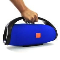 beatbox mp3 toptan satış-Wrdlosy Boombox Su Geçirmez Süper Kolu Ile Bluetooth Taşınabilir Hoparlör 25 W Hoparlör Sütun Açık TWS TF USB Powerbank Müzik Çalar Kutusu