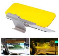 ingrosso pieghevole auto specchio-Auto Parasole HD Auto Anti-riflesso Occhiali abbagliante Giorno Visione notturna Guida Specchio UV Piega a scomparsa HD Clear Visiera