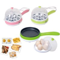 Wholesale steam green online - Mini Electric Frying Pan Fried Eggs Pancake Fried Steak Boiled Egg Steamed Cooking Tools Kitchen Supplies Green Rose Red