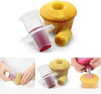 Wholesale new decorating colors - New 6 Colors Cuisipro Cupcake Corer Muffin corer Pastry Decorating Tool Model make sandwich hole filler Free DHL