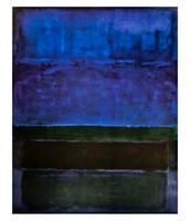 panel de pared marrón arte al por mayor-Mark Rothko Azul Verde y Marrón Arte Abstracto Pintura Al Óleo Pintada A Mano Impresión HD Wall Art High Quality Sobre Lienzo Decoración para el hogar g221