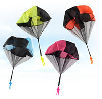 Wholesale Big Parachute - Hand Throwing Kids Mini Play Parachute Toy Soldier Sports Children's Educational Toys Outdoor Random color PVC Fashion Gag Toys