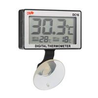 термометр высокой температуры оптовых-ЖК-цифровой Аквариум Аквариум термометр погружной температура воды высокая/низкая температура сигнализации