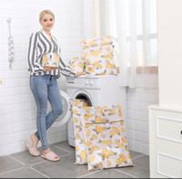 çamaşırhane çantası toptan satış-Dayanıklı Baskılı Çamaşır Torbaları Yıkama Anti Deformasyon Makinesi İhtisas İç Çamaşırı Mesh Deformasyon Önlemek Giysi Net Çanta 21 9yp jj