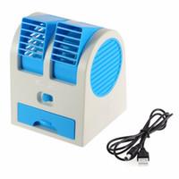usb left venda por atacado-USB portátil Ultra-silencioso Sem Folhas Mini Ventilador de Ar Condicionado Aromaterapia Ventilador ventilador ar condicionado ar condicionado