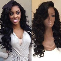 Wholesale Virgin Hot Full - Hot product!!ocessed Brazilian Full Lace Human Hair Wigs Lace Front Wigs Body Wave Virgin Hair with Baby Hair for Black Women