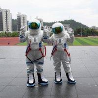 trajes espaciales trajes al por mayor-Traje de la mascota del astronauta personalizado profesional Hombres y mujeres traje espacial Holloween Fancy Party Dress Carnaval ropa envío gratis