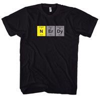 aussenseiter t shirts großhandel-Aussenseiter-Nerd - Ciencia - Física - Nerd-T-Shirt HEISSER VERKAUF 2018 Neue Mode-Marken-Mann-T-Stücke Normallack-Kurzschluss-Hülse 100% Baumwolle
