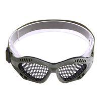 Wholesale metal mesh protection online - Outdoor Paintball Goggle Hunting Airsoft Net Eyewear Tactical Eyes Protection Eyeglasses Sport Metal Mesh Glasses Hiking Eyewear