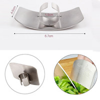 Wholesale cut finger knife for sale - Group buy Stainless Steel Finger Protector Guard Safe Slice Kitchen Accessories Cooking Gadgets Hand Protector Knife Cutting Finger Protection Tools