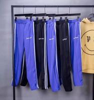 fermuar harem t-shirt erkek toptan satış-2018 yeni top Kore Hip-Hop İyi sürüm Palm Angels PA Retro Yan ekleme Fermuar Erkekler Kadınlar İpli Sweatpants pantolon 5 Renk