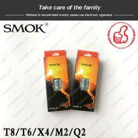 bobina de smok baby t8 al por mayor-100% original SMOK TFV8 BABY Bestia Bobina del tanque de la cabeza V8 Baby-T8 T6 X4 M2 Q2 ohm Bobinas de reemplazo de núcleo Original