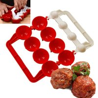 Wholesale Fishing Gadgets - New Creative Plastic Meatballs Maker Fish Balls Molds DIY Stuffed Meat Ball Making Tool Kitchen Gadget Kitchen Tools Meat Tools