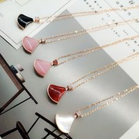 Wholesale italy gold necklace - Brand-Fan Necklace Diva-Dream Agate Necklaces Charm Women Party Chain Forever Love Thermae of Caracalla Italy Jewelry Rome Muse AAAAA