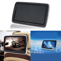 Wholesale movie player resale online - 10 Inch External Headrest Monitor Car DVD Player Support AV in FM Transmitter HiFi Stereo TF Card USB Flash Disk Music Movie Player