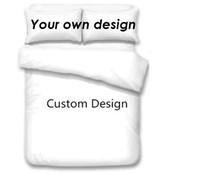 Wholesale 3d bedding set cotton king resale online - Customized Design Bedding Sets D Digital Printing Custom Bedding Set Duvet Cover with Pillowcase Full Queen King Size