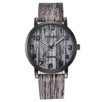 Wholesale xinew watches online - XINEW Women Men Wood Texture Watch Imitation Wooden Retro Leather Quartz Watch Waterproof Wristwatch montre femme A0820