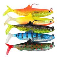 рыболовные приманки мягкие 5шт оптовых-5pcs 1set 10.5 cm приманки мягкие приманки с крепким крючком для рыбалки спорта поддельные рыбы Pesca снасти много цветов Streamline Shape 3sb ZZ