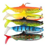 Wholesale jigs lures for fishing for sale - 5pcs set cm Lures Soft Baits With Sturdy Hook For Fishing Sports Fake Fish Pesca Tackle Many Colors Streamline Shape sb ZZ