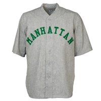 Wholesale road number - Manhattan College 1947 Road Baseball Jersey Double Stiched Logos & Name & Number Customizable For Men Women Youth