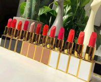 ingrosso tubo rossetto bianco-Tubo professionale in oro bianco con lucidalabbra T nero lucido a lunga durata