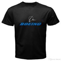ingrosso camicie da aereo-Nuova maglietta nera da uomo Boeing Aircraft Logo Airplane da S a 3XL