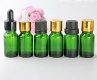 Wholesale personal types resale online - 768pcs ml Glass E liquid Bottles Green Glass Dropper Bottles Pipette Empty Bottle With Type Lids For Choice