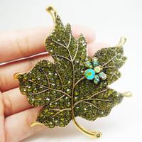 yeşil yaprak broş toptan satış-iğneler 3.74
