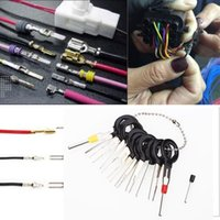 Wholesale 11pcs Car Cable Line Terminal Removal Tools Harness Wiring Pin Extractor Tool Back Needle Remove Tool Set Tire Repair