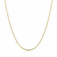 collar de cadena de oro 18kgp al por mayor-toda la ventaCadena fina fina para el colgante 18KGP Electroplate Oro Rosa Oro Plata 0.5mm collares Cadenas Sujeción para desvanecimiento Cadenas