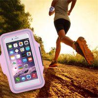 ingrosso sacchetto di telefono cellulare rosa-Sport Esercizio da corsa e da jogging Palestra Armband Custodia a tracolla Custodia per cellulare Fascia da braccio rosa
