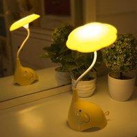 ingrosso luce elefante del bambino-Luminaria Lamparas LED Kid Baby Lampada dimmerabile Touch Sensor Night Lights Camera da letto per bambini Cartoon Elephant Charged Battery
