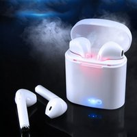 Wholesale pink headset for cell phone for sale - Group buy Wireless Headset Bluetooth Earpieces i7S Tws Earbuds Headphones Twins Earphone With Charging Box Earphones For iPhone Samsung Smart Phone