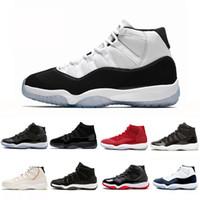 basketball shoe toptan satış-Concord Yüksek 45 11 XI 11 s Kap ve Kıyafeti PRM Heiress Spor Kırmızı Chicago Platin Ton Tonu Uzay Reçeller Erkekler Basketbol Ayakkabıları spor Sneakers