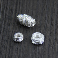 Wholesale Loose String Beads - designer jewelry loose 925 sterling silver beads charms handmade Diy hand string bead string beads silver spacer bead wholesale china direct