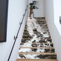 Wholesale waterfall decor for sale - Group buy 13Pcs Set DIY D Stairway Stickers Waterfall Stairs Stickers Fall Floor Wall Decor Decals Sticker Living Room Decoration
