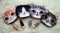 Wholesale pink cat tail - drop ship Mini Small Tail Cat Coin Purse Cute Kids Cartoon Wallet Kawaii Bag Coin Pouch Children Purse Holder Women Coin Wallet 13*16cm